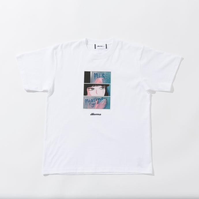 New Crying Girl Lenticular Tshirt/WHITE