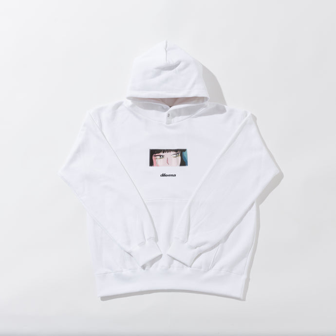 New Crying Girl Lenticular Parka/WHITE