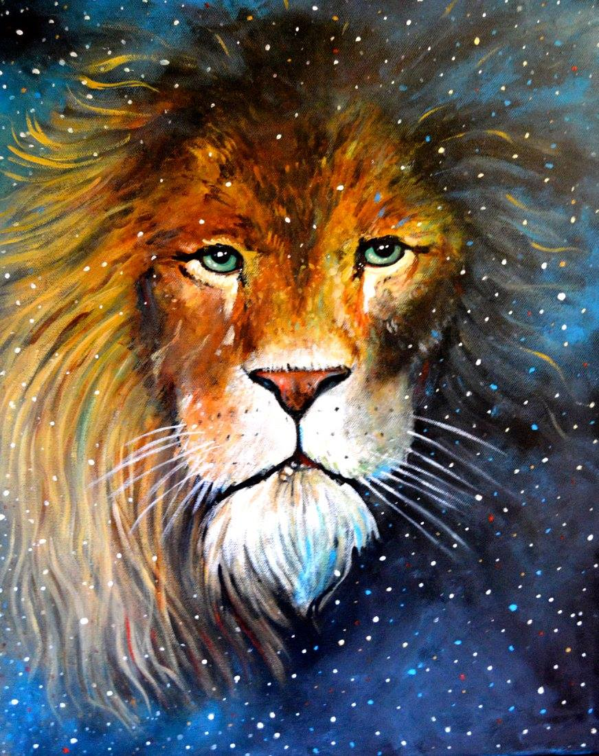 "A4 Signed & Mounted Print, ""Astral Lion"""