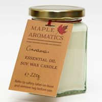 Sox wax and essential oil candle handmade by Maple Aromatics (1/MASWC)