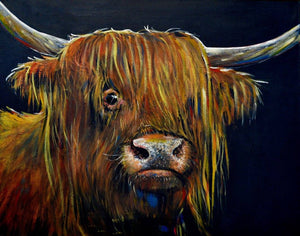 "A4 Signed & Mounted Print, ""Wistful Coo""."