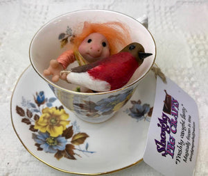 "Faery creature. ""Teacup Pixie"".Decorative only. Does not require food or water. (116TCP2)"