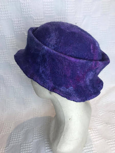 Hat. by Diva Design. Purple wet felted. Handmade.(39PHAT)