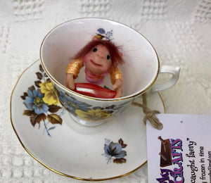 "Faery creature. ""Teacup Pixie"".Decorative only. Does not require food or water. (116TCP3)"