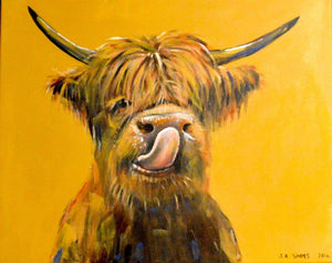 "A4 Signed & Mounted Print, ""Licky, Moo Coo"""