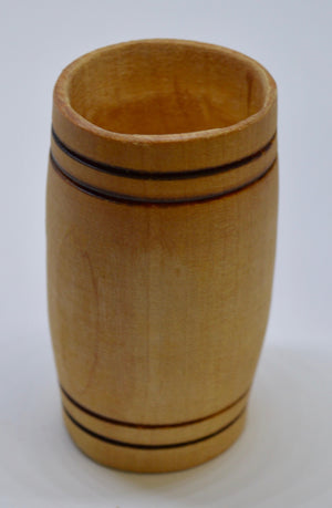 Whiskey Tumbler. Hand carved, Lime wood by Ged Wood. (78C3)
