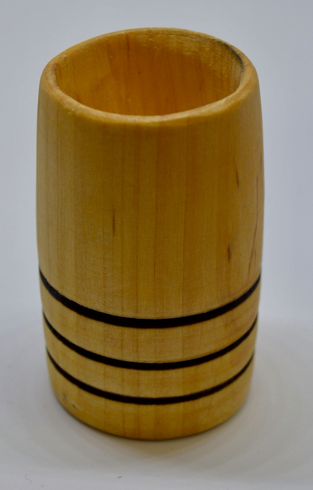 Whiskey Tumbler. Hand carved, Alder wood by Ged Wood. (78C6)