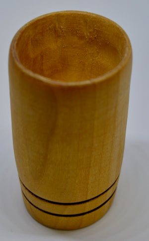 Whiskey Tumbler. Hand carved, Willow wood by Ged Wood. (78C7)