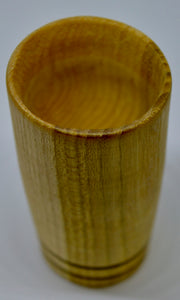Whiskey Tumbler. Hand carved, Wych Elm wood by Ged Wood. (78C8)