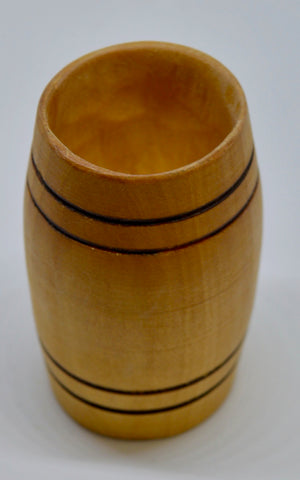 Whiskey Tumbler. Hand carved, Willow wood by Ged Wood. (78C11)