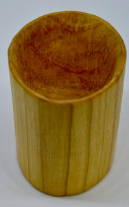 Whiskey Tumbler. Hand carved, Wild Cherry wood by Ged Wood. (78C13)