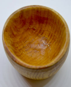 Whiskey Tumbler. Hand carved, Alder wood by Ged Wood. (78C14)