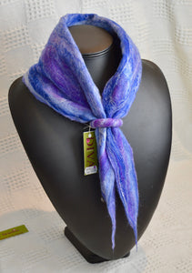 Scarf. Neck Cosy. Felt. Diva Design. Purple/Blue. 39SN15