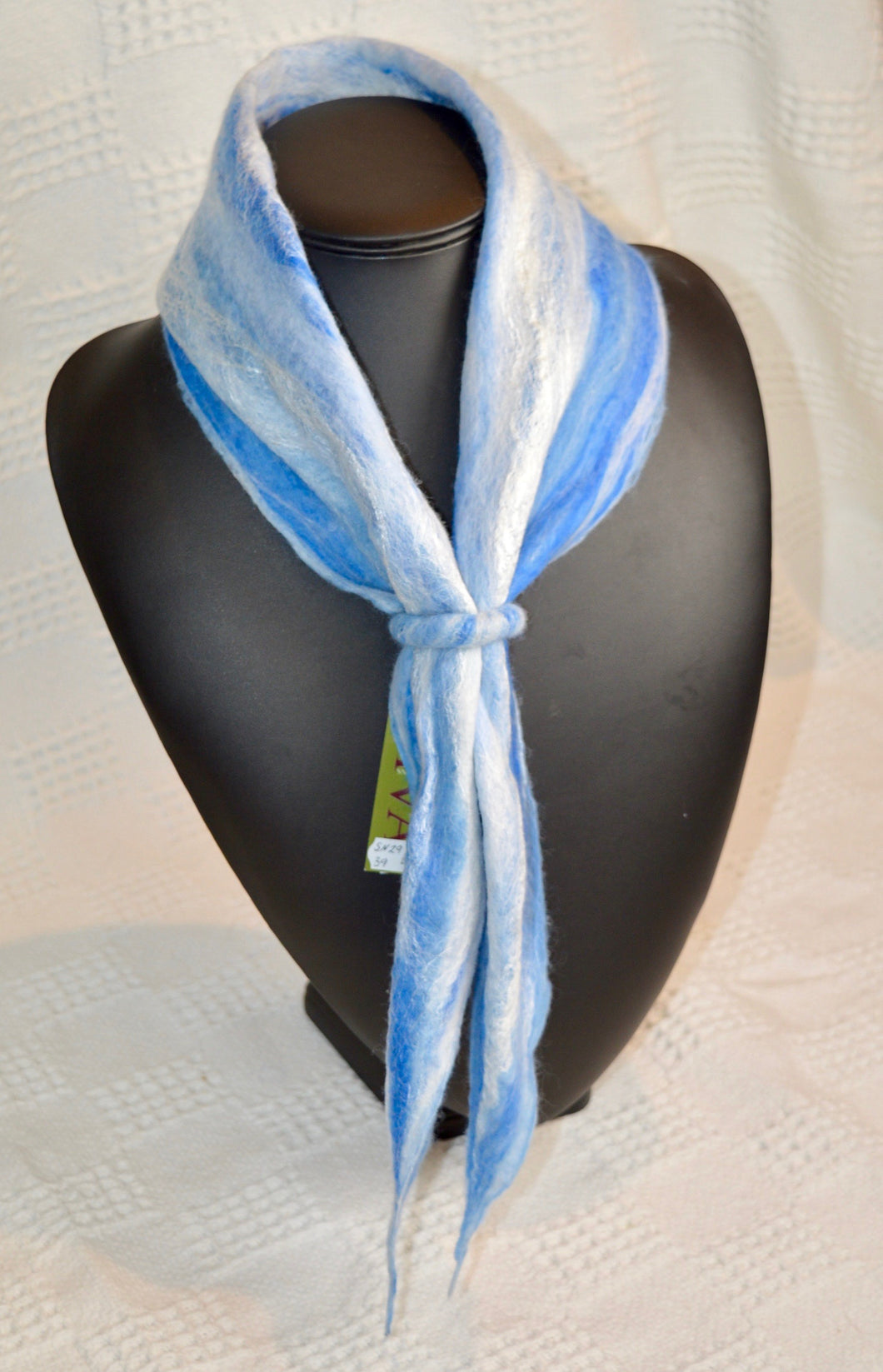 Scarf. Neck Cosy. Felt. Diva Design. Pale Blue. 39SN29