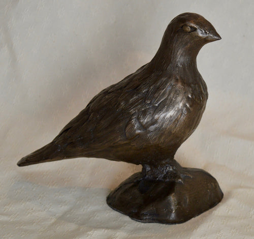 Sculpture. Ptarmigan, cold-cast resin with copper. By Gleed 3D.(32SG1)