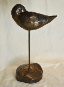 "Sculpture. ""Avocet"", cold-cast resin with copper. By Gleed 3D.(32SG8)"