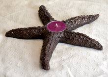 "Sculpture. ""Starfish tea-light holder"", cold-cast resin with copper. By Gleed 3D.(32SFTLB3)"