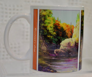 "Mug. ""Randolphs Leap"" by Art Scene Scotland."