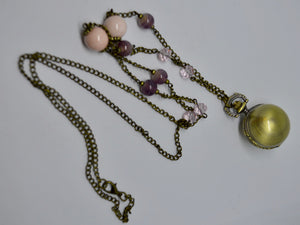 Necklace. With globe / locket time-piece. Steam Punk Jewellery from Countless Crafts. WN8