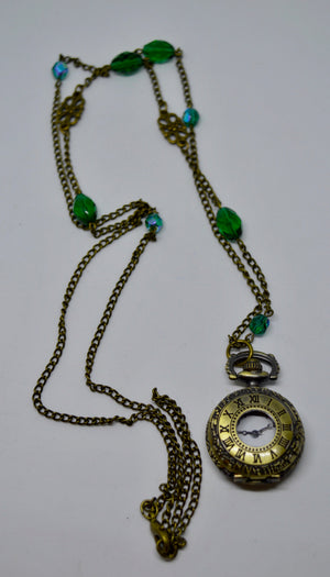 Necklace. With traditional time-piece. Steam Punk Jewellery from Countless Crafts. WN6