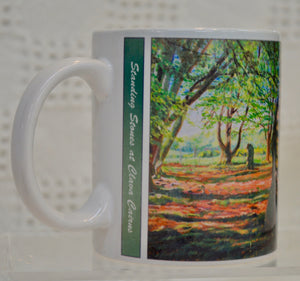 "Mug. ""Standing Stones at Clava Cairns"" by Art Scene Scotland"