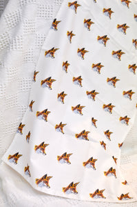 Tea towel. Repeat Fox print pattern. By Between the woods & sea. 91T2