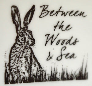 Tea towel. Repeat Hare print pattern. By Between the woods & sea. 91T1