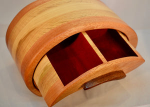 Box. Whale Play ,chest of drawers by Adnil Crafts. (burgundy lined)(19WPM2)