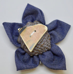 "Brooch by The Beez Neez. ""Johnstons Fabric & Sea pottery"".  (4B155)"