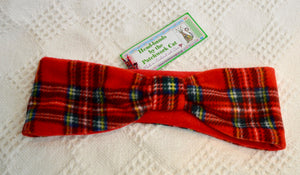 Headband.Hat.Red Tartan. (77PCHB5)