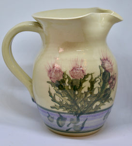 Jug. From Highland Pottery. Scottish Thistle design. (HGJUG1)