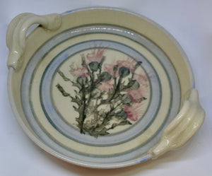 Quiche dish. From Highland Pottery. Scottish Thistle design. (HGQUICHEDISH)