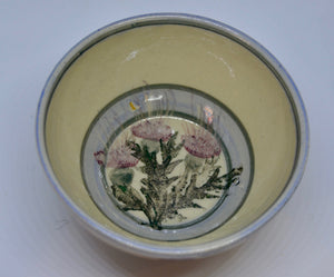 Soup bowl. From Highland Pottery. Scottish Thistle design. (HGSOUPBOWEL)