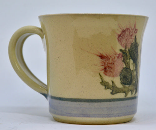 Mug (Small). From Highland Pottery. Scottish Thistle design. (HGSMALLMUG)
