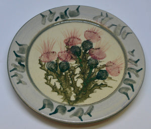 Plate (Small). From Highland Pottery. Scottish Thistle design. (HGplate)