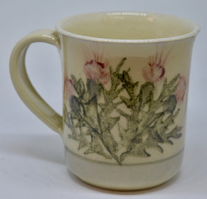 Mug (Large). From Highland Pottery. Scottish Thistle design. (HGLargeMUG)
