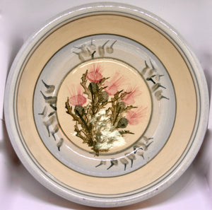 Large bowl. From Highland Pottery. Scottish Thistle design. (HGLARGEBOWL)