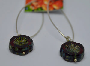 Earrings. Bead earrings by Bowerbird Jewels. (15EAR15)