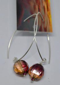 Earrings. Bead earrings by Bowerbird Jewels. (15EAR7)