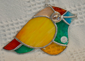 Stained Glass by Wild Hare Glass. Peacock eye.. (17WHGPEA1)