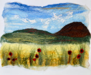 "Felted picture ""Poppy field"" (OFPPF1)"