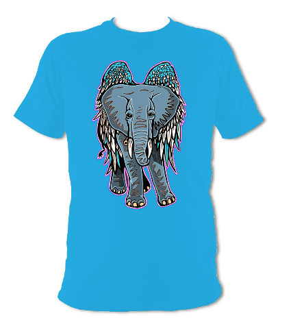 Flying Elephant/ Angel t-shirt.