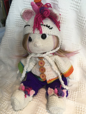 'Mellodee' the crazy unicorn doll 29MEL