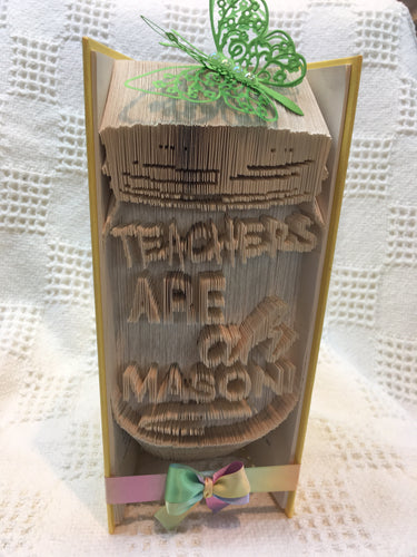 Book fold teachers are a mason