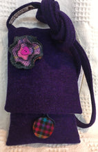 Tweed handbag with detachable brooch 77TB1