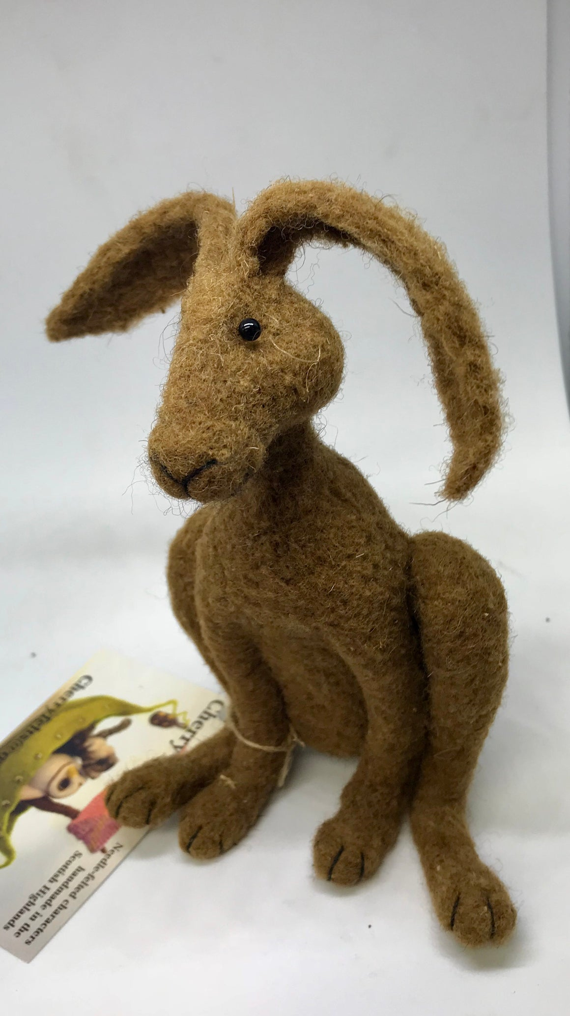 Broom Hare.Needle felted hare.