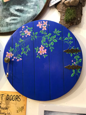 "Hobbit door. Blue.With ""One Ring on chain"""