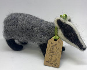 Nellie.Needle felted badger.