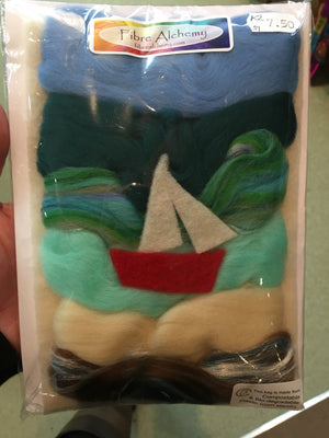 "Beginners wet felting kit "" boat"""