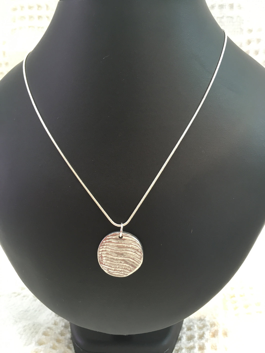 Handmade pewter necklace